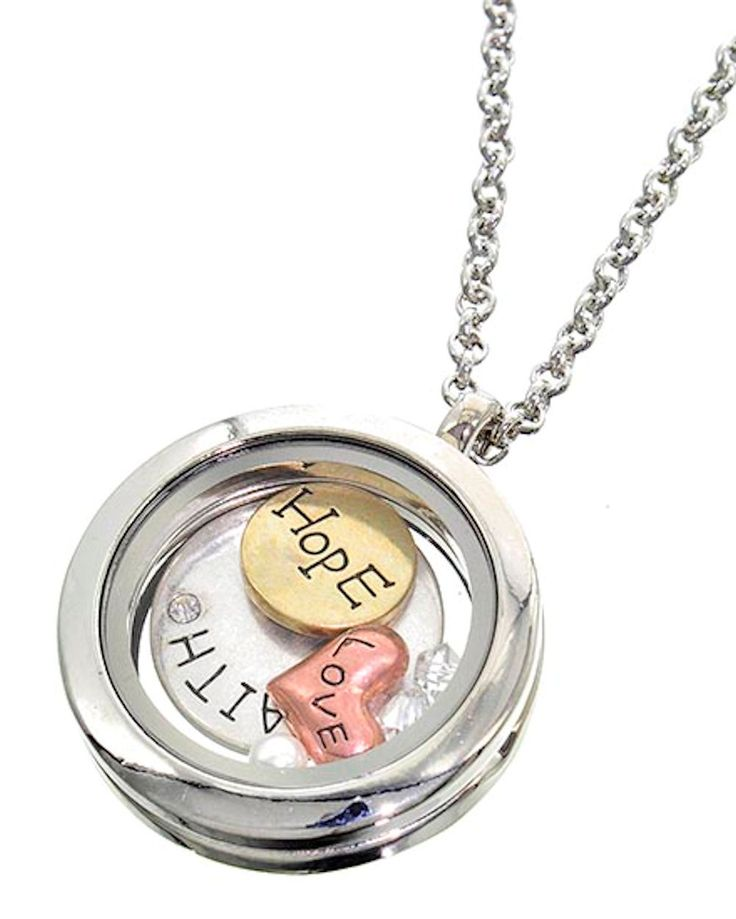 Auralee Company - Round Floating Charms Locket Words Love Hope Faith Fashion Necklace, $24.99 (http://www.auralee-company.com/round-floating-charms-locket-words-love-hope-faith-fashion-necklace/) #valentinesday