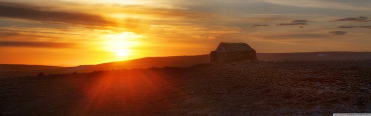 Sunset Over The Hills HD desktop wallpaper Fullscreen Mobile