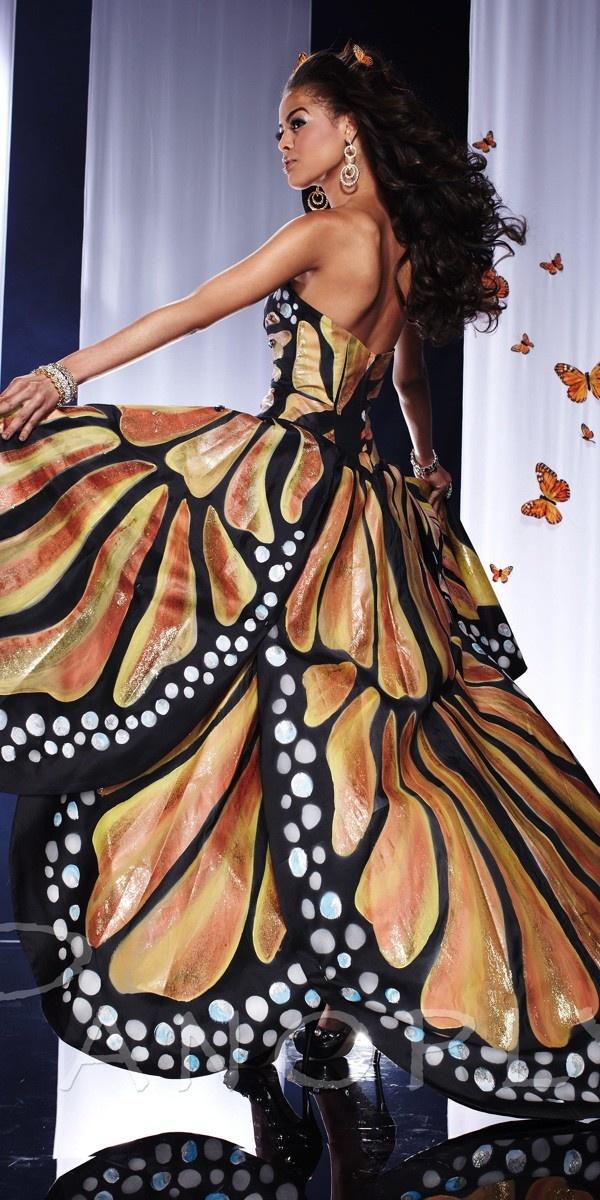 Long dress images butterflies