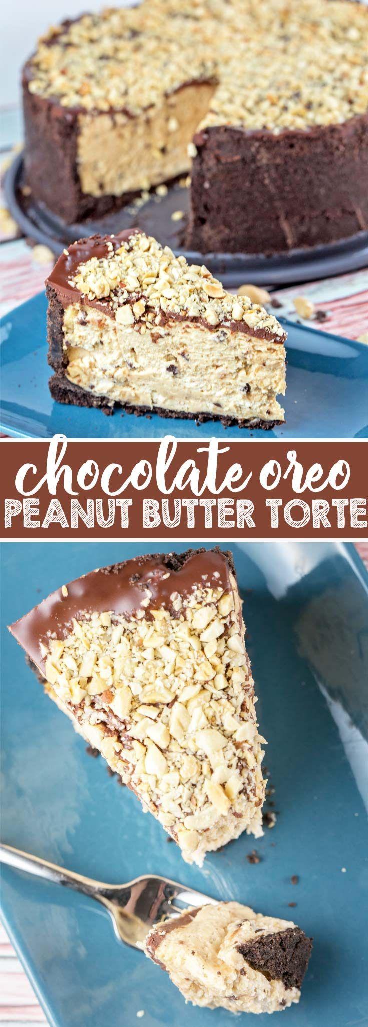 Chocolate Oreo Peanut Butter Torte: oreos! peanut…
