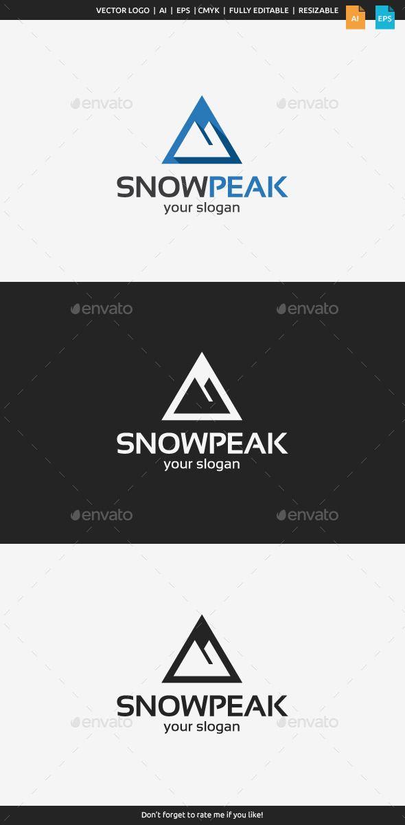 Logotipos para Deportes de Invierno. #montañas #invierno #deportes #escalada #nieve #símbolos #logos #logotipos