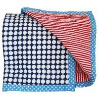 Alimrose Reversible Cot Quilt - Blue & Red #mamadoo #cot #bassinet #bedding