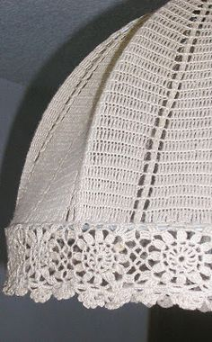 Badulake ana: crochet, lampshade