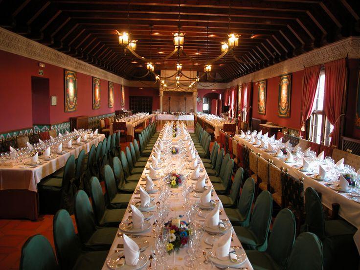 #Salon #montaje de #bodas en el #Parador de #Alcañiz #weddingvenue #bodas #medievales #bodas #tematicas #rusticChic #rinconesunicos