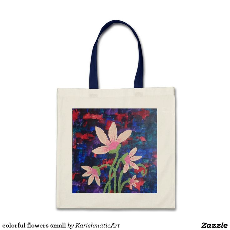 colorful flowers small budget tygkasse