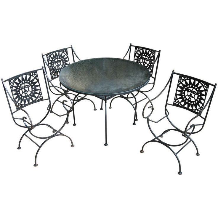 Arthur Umanoff for Raymor Outdoor Dining Set | From a unique collection of antique and modern dining room sets at http://www.1stdibs.com/tables/dining-room-sets/