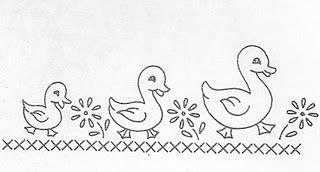 Vintage duck family