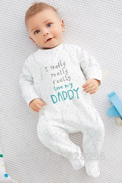 2015 newborn carters Cotton baby I love mom and dad onesie  baby Rompers Girls Boys Clothes bebe baby boy clothing set