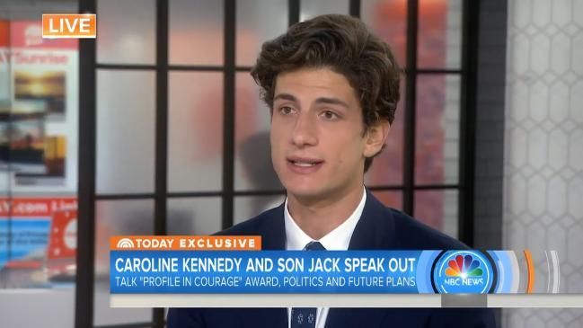 John F. Kennedy's handsome grandson Jack Schlossberg interviewed on US NBC's TODAY show