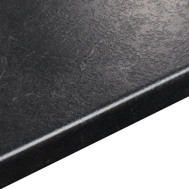 38mm B&Q Basalt Slate Textured Round Edge Kitchen Worktop (L)3m (D)600mm | Departments | DIY at B&Q