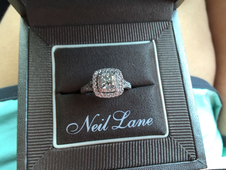 Neil Lane Double Halo 2ct tw Diamond 14k White Gold Princess Cut Engagement Ring. I'm obsessed with my ring, but I'm more obsessed with the man that asked me to marry him.