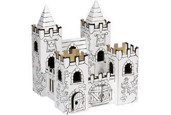 A cardboard craft kit to treasure for a long time. The Rose Garden Castle comes with 12 felt tip pens for you to decorate as you want, and can be folded down when not in use. It's really well made, and can be played with by generations of children. £12.95
