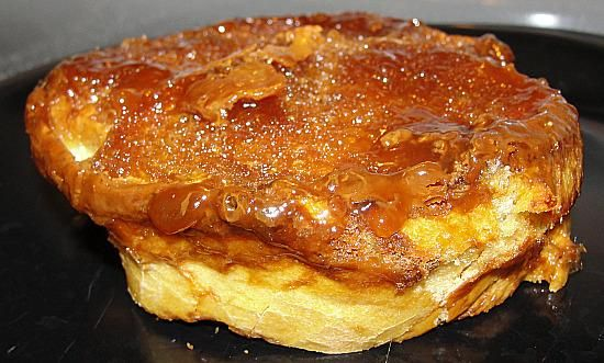 Creme Brulee French Toast Made Overnight...I do this on Christmas Eve so we can eat it at brunch on Christmas morning. You don't need syrup because of the brown sugar crust. I just pass around a shaker filled with powdered sugar. It is always a big hit!