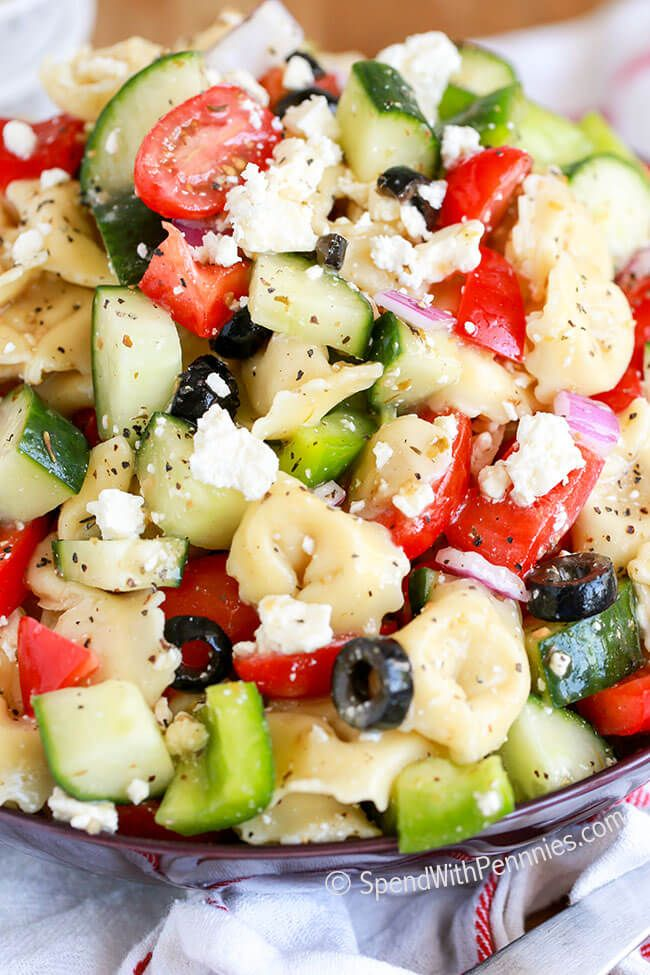 Greek Tortellini Salad-21