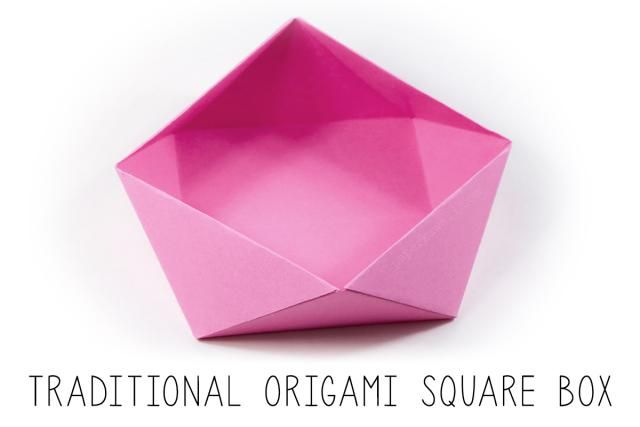 Learn how to make a beautiful Japanese origami square box with these easy origami instructions. This makes a perfect paper bowl to serve snacks!