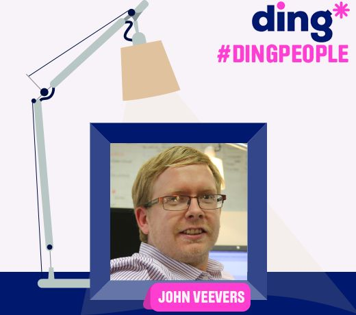 Meet John, he's our App manager, he likes to ''top-up his day'' by drinking berry tea buying ice-cream for everyone else! Find out what he does each day at ding* and how it helps our customers. http://lnkd.in/dJCK3Q2