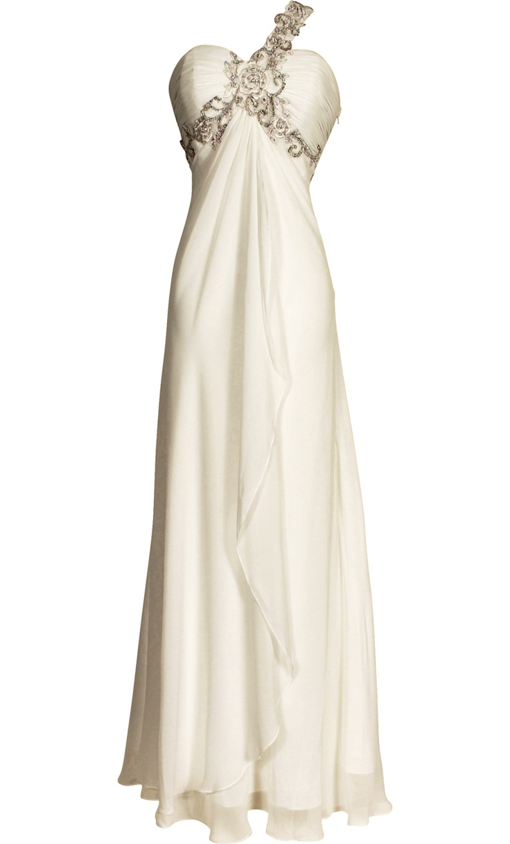 50 best bridesmaid dresses images on pinterest prom dresses beaded oneshoulder chiffon long goddess gown prom dress bridesmaid dresses ombrellifo Images
