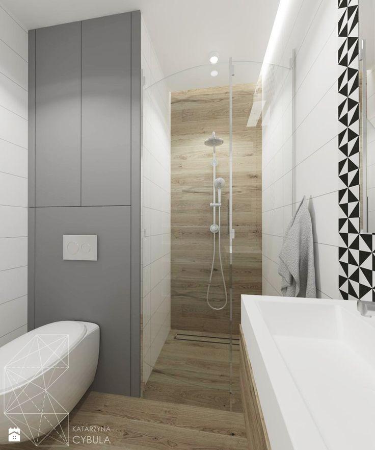 łazienka mała - zdjęcie od INNers - architektura wnętrza - Łazienka - Styl Nowoczesny - INNers - architektura wnętrza