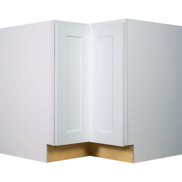 Everyday Cabinets 33 Inch White Shaker Lazy Susan Base