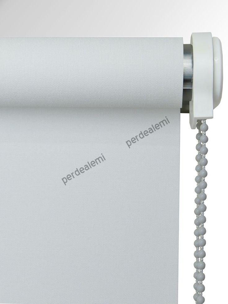 Beyaz Mat Polyester Stor Perde | Perdealemi.com