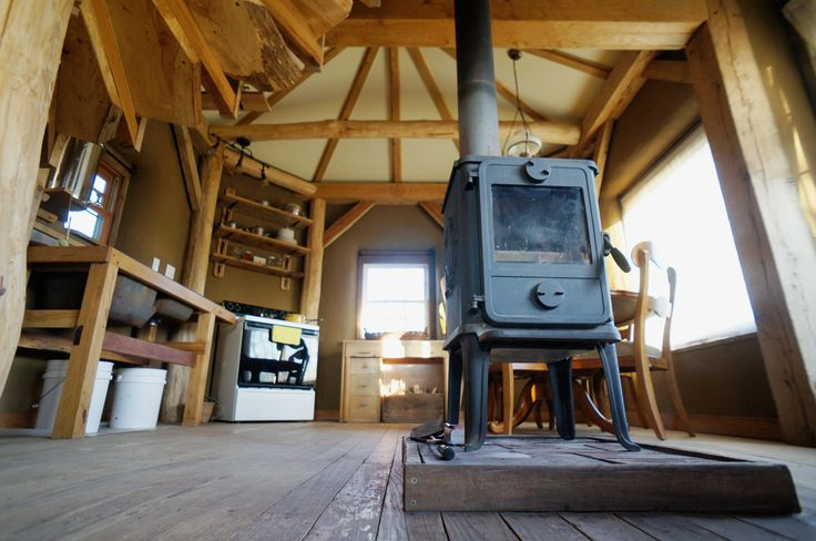 Small Wood Stove Review: Morso 1410 Squirrel | Small Wood Stoves notice exposed beams too