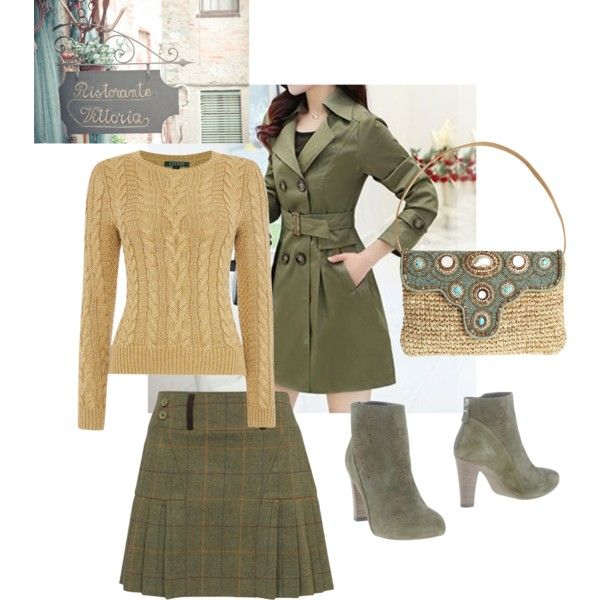 A Golden green romantic set by besyata on Polyvore featuring мода, Lauren Ralph Lauren, Vic, Skemo and Tiffany & Co.