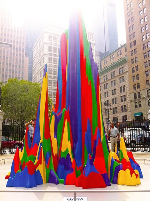 Sol LeWitt's Splotch 15, 2005, acrylic on fiberglass on view at NYC's City Hall Park until December 2011