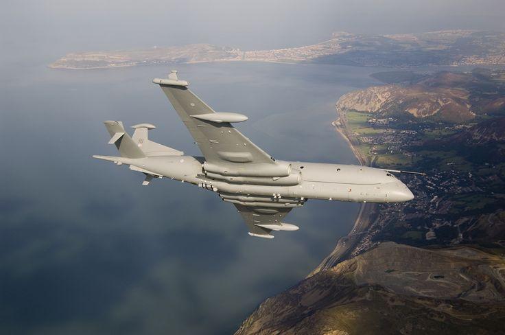 BAE System Nimrod MRA 4 Over Welsh Coast