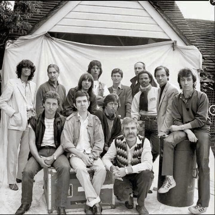 Quite the line up of stars here including Jimmy Page, Charlie Watts, Jeff Beck, Stevie Winwood, Bill Wyman, Kenny Jones, Ronnie Lane, Eric Clapton gather for a benefit for ex Small Faces member Ronnie L who later died of MS.