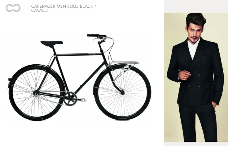 Caferacer men solo black / Cavalli