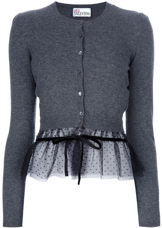 ee046504226e Shop for sheer hem cardigan by RED Valentino at ShopStyle. Now for Sold Out.