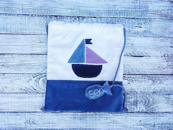 Nautical backpack, kids backpack,  babies gift, kids mam bags, toddler backpack