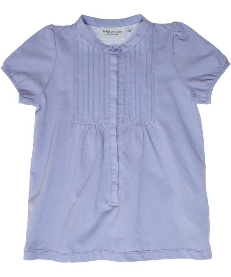 Mini A Ture paarse t-shirt met knooplijst. mini-a-ture.nl.emilea.be