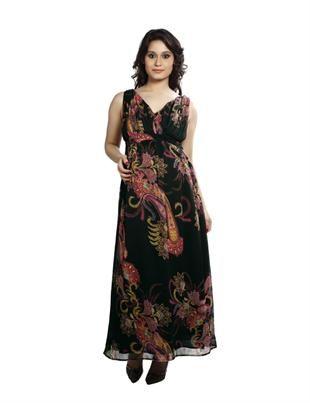 Maternity Multi Colour Printed Maxi Dress: