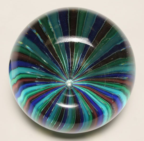 Fratelli Toso Murano a canne art glass paperweight:
