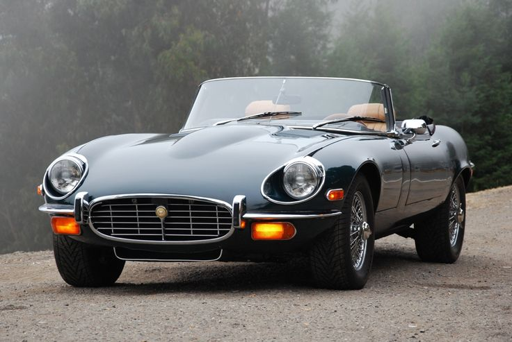 Jaguar XK-E, early 70s. One of the best-designed cars, ever. The British can design beautiful cars;