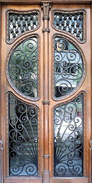 beautiful iron work in this door ~Barcelona, Spain