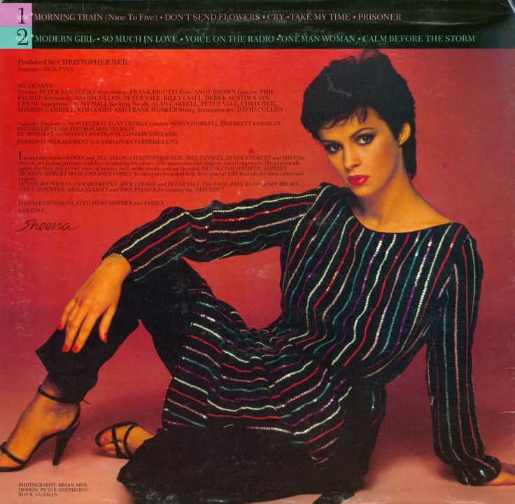 Sheena Easton.  I remember buying this album way back in my youth...