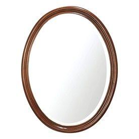 Avanity Oxford 25 In W X 33.5 In H Dark Oak Oval Bathroom Mirror Oxford