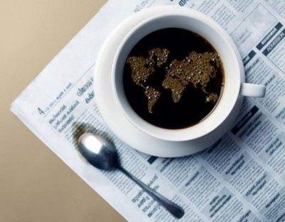 Die Welt im Kaffee