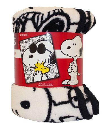Peanuts Snoopy and Woodstock Raschel Throw #zulily #zulilyfinds