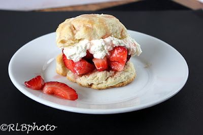 The Curious Country Cook: : Strawberry Shortcake with Buttermilk Biscuits
