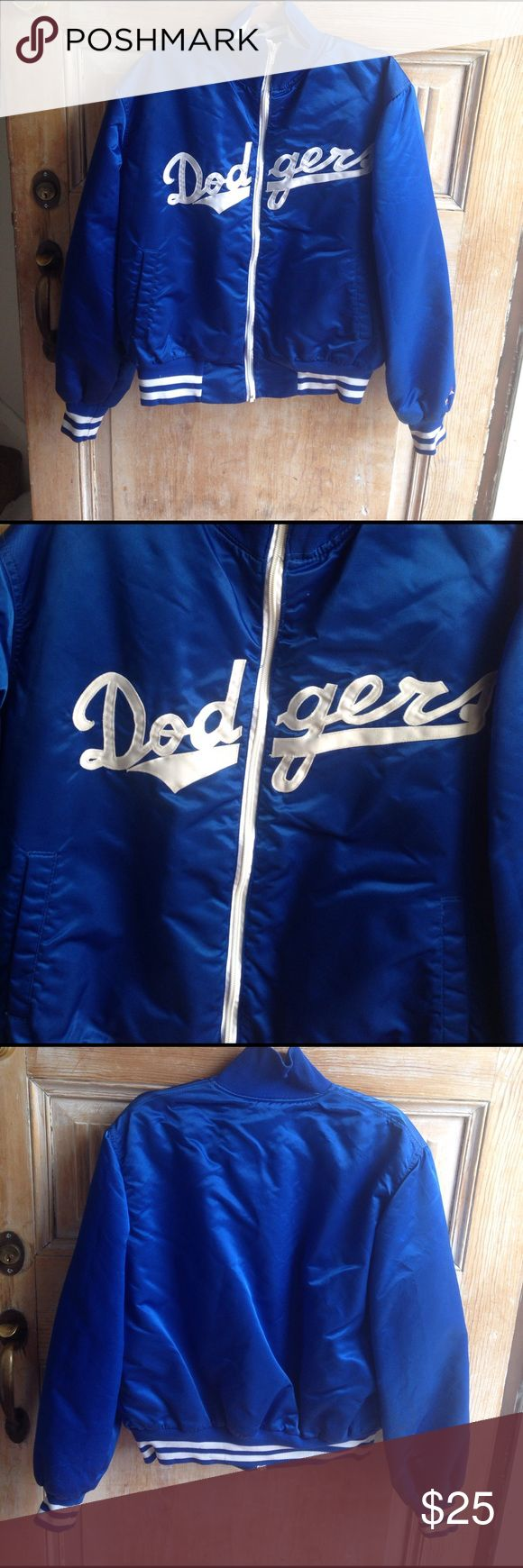Vintage Dodgers Jacket Size Large Please view all photos. Some stains as shown in photo. Made in the USA dodgers Jackets & Coats Bomber & Varsity