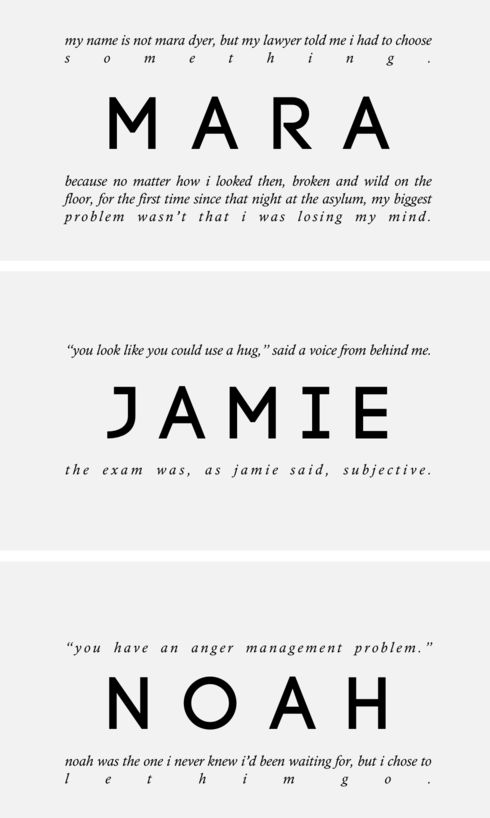the unbecoming of mara dyer ;; first and last mentions