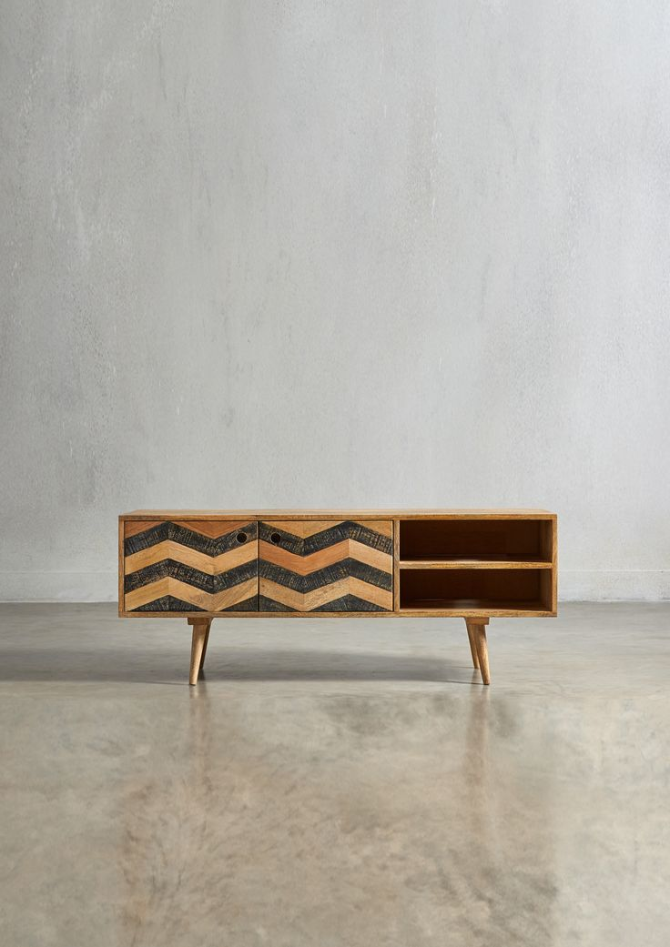 The HERZEN Media Unit - in Mango Wood - Swoon Editions - swooneditions.com - #mediaunit #furniture