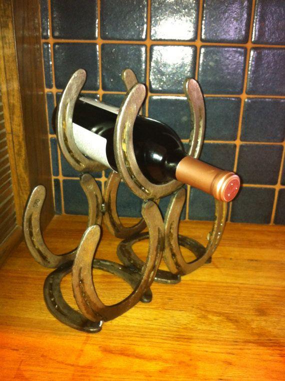 Horse Shoe Wine Rack by shelbyEyork on Etsy, $35.00