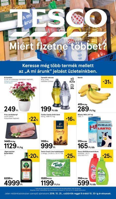 TESCO Akciós Újság 2018. 10.25-10.30-ig  Krizantém e85f126914