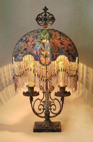 90 Best Images About Beaded Lampshades On Pinterest Lamp