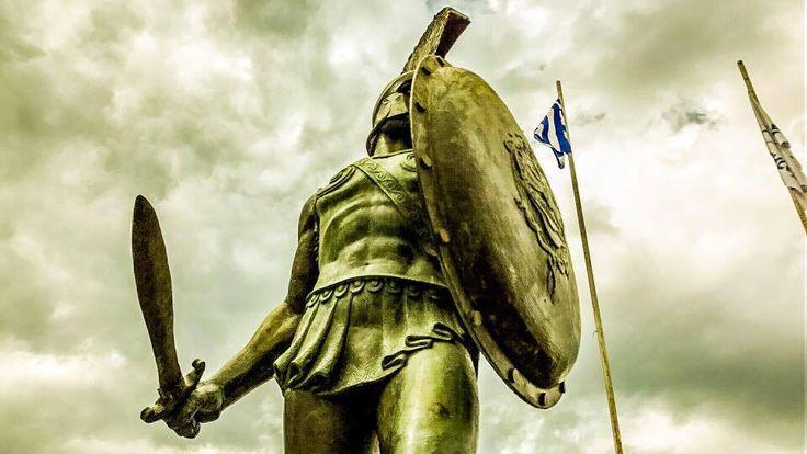 Statue of Leonidas, Sparta Greece