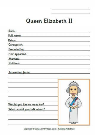 Queen Elizabeth Worksheet